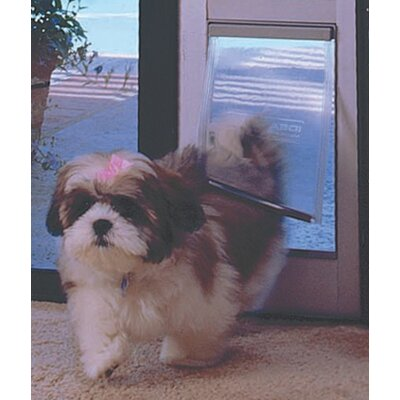 Small Tall Patio Pet Door Color: Mill