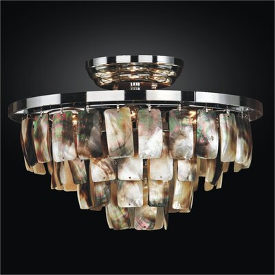 Mailbu 6-Light Semi-Flush Mount