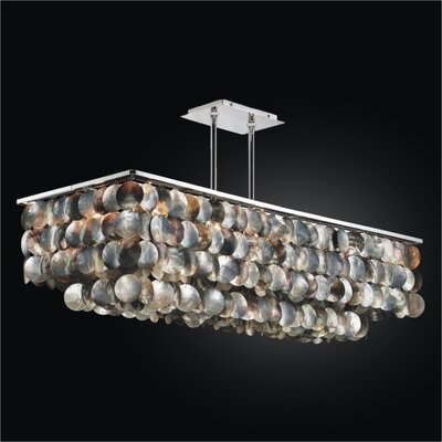 Montego Bay 6-Light Kitchen Island Pendant Size: 15 H x 39 W x 14.75 D