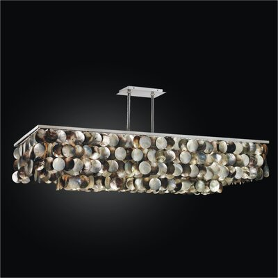 Montego Bay 6-Light Kitchen Island Pendant Size: 22 H x 45 W x 21.5 D