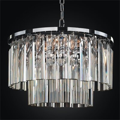 Wind Chime 5-Light Crystal Chandelier