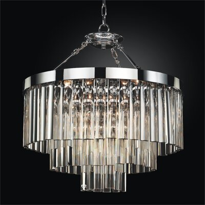 Wind Chime 6-Light Crystal Chandelier