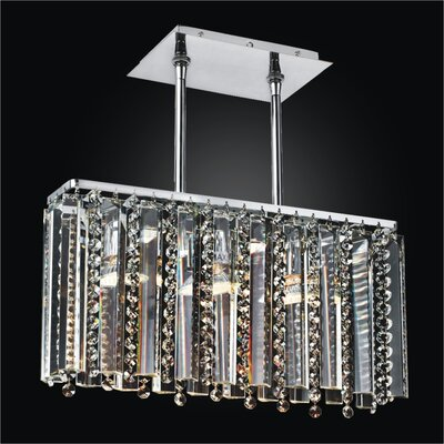 Sonesta 3-Light Crystal Pendant