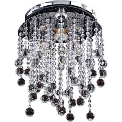 Crystal Rain 3-Light Close Up Flush Mount