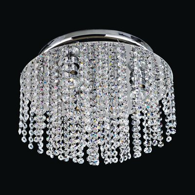 Crystal Rain 3-Light Flush Mount
