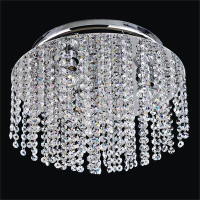 Crystal Rain 4-Light Flush Mount