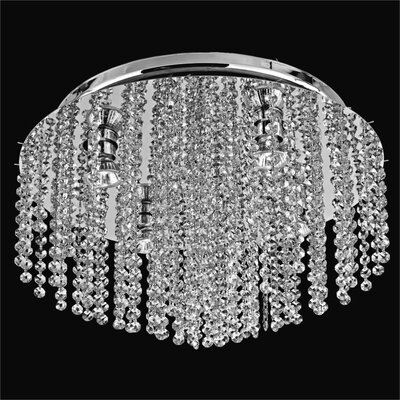 Crystal Rain 5-Light Flush Mount
