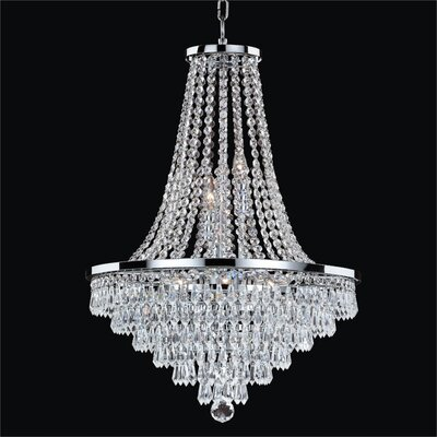 Thorpe 8-Light Glass Shade Empire Chandelier Size: 27.5 H x 18.5 W