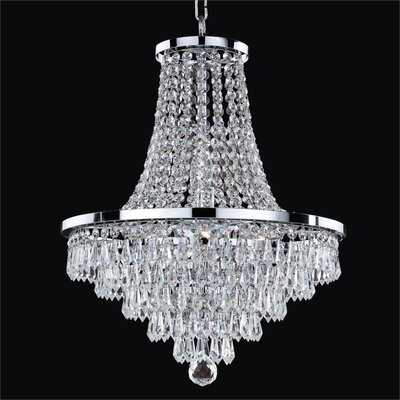 Thorpe 8-Light Glass Shade Empire Chandelier Size: 20.5 H x 16 W