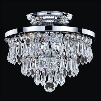 Thorpe Glam 3-Light Close Up Semi-Flush Mount