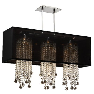 Salerna Modern 3-Light Crystal Pendant Shade Color: Black