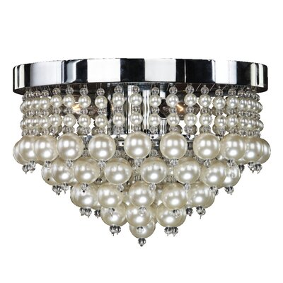 3-Light Flush Mount Size: 8.5 H x 11 W x 11 D