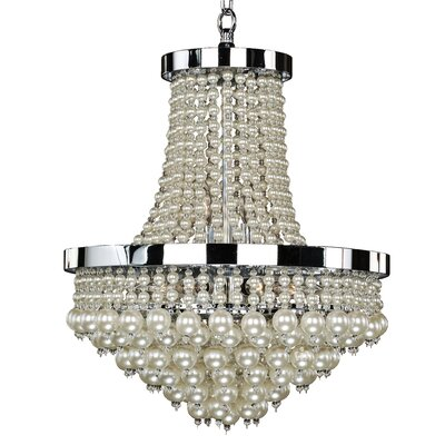 8-Light Empire Chandelier Size: 22.5 H x 16 W x 16 D