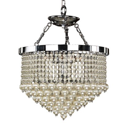 3-Light Crystal Chandelier Size: 22.5 H x 16 W x 16 D