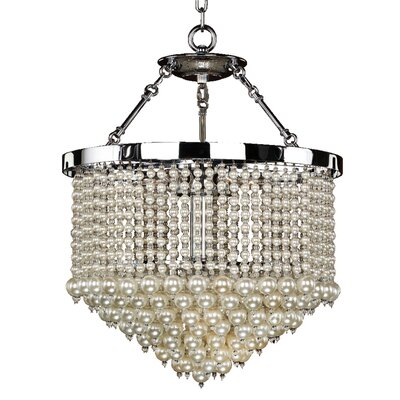 3-Light Crystal Chandelier Size: 24 H x 19 W x 19 D