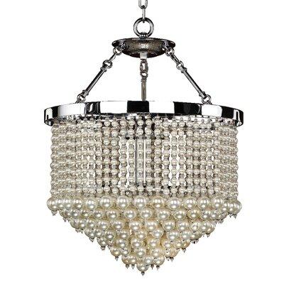 3-Light Crystal Chandelier Size: 24 H x 19 W x 19 D