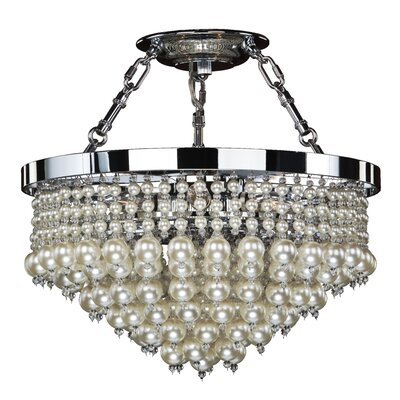 5-Light Semi Flush Mount Size: 16.5 H x 16 W x 16 D