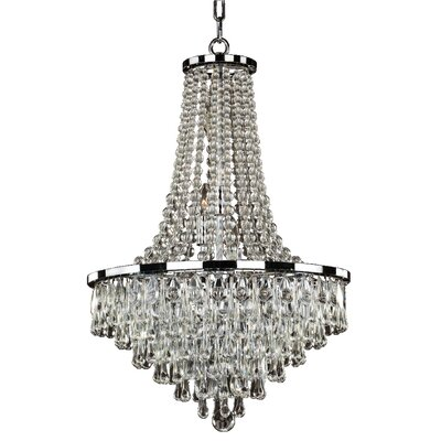 Summer Rain 9-Light Empire Chandelier Size: 28 H x 19 W