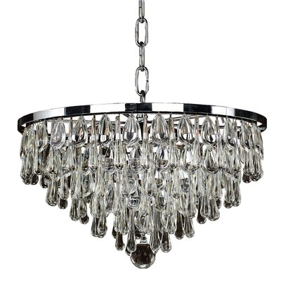 Summer Rain 6-Light Crystal Chandelier