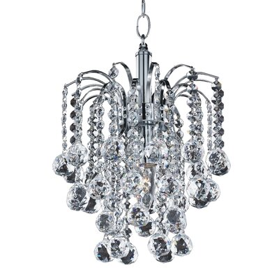Cascade 1-Light Pendant Crystal: Signature Clear Crystal
