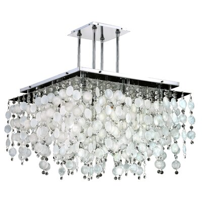Cityscape Capiz Shell 9-Light Crystal Chandelier