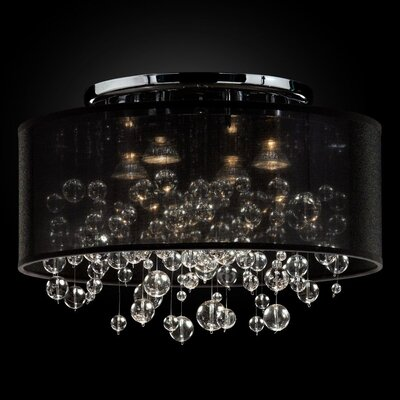Thirza 4-Light Semi Flush Mount Shade Color: Black