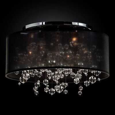 Winifred 5-Light Semi Flush Mount Shade Color: Black