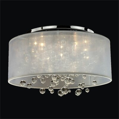 Winifred 5-Light Semi Flush Mount Shade Color: white