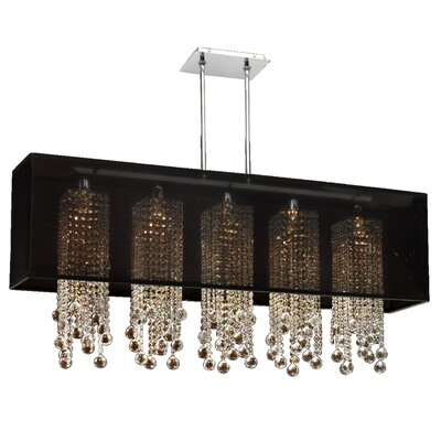 Salerna Modern 5-Light Kitchen Island Pendant Shade Color: Black