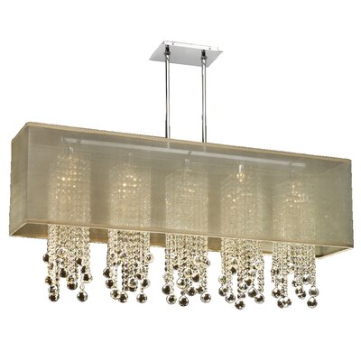 Salerna Modern 5-Light Kitchen Island Pendant Shade Color: Taupe
