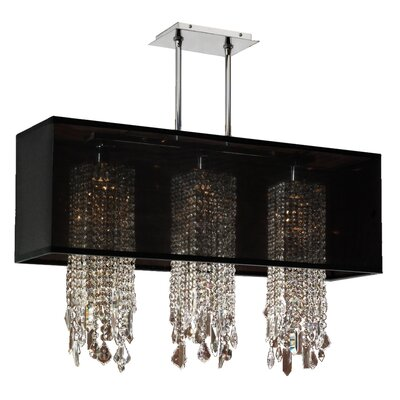 Salerna 3-Light Pendant Shade Color: Black
