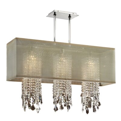 Salerna 3-Light Pendant Shade Color: Taupe