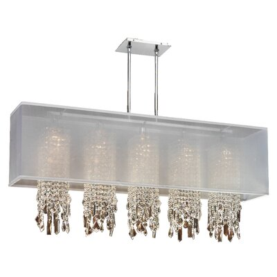Salerna 5-Light Pendant Shade Color: White