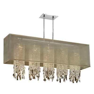 Salerna 5-Light Pendant Shade Color: Taupe