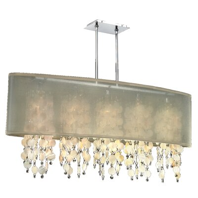 Kenlee Modern 5-Light Kitchen Island Pendant Shade Color: Taupe