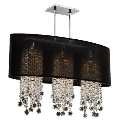 Kenlee 3-Light Kitchen Island Pendant Shade Color: Black