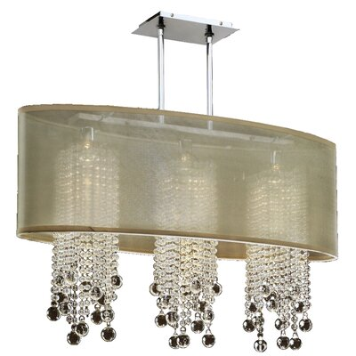 Kenlee 3-Light Kitchen Island Pendant Shade Color: Taupe