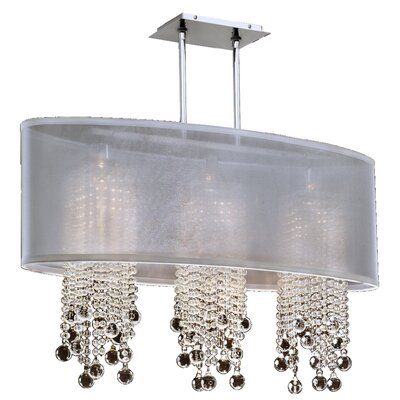 Kenlee 3-Light Kitchen Island Pendant Shade Color: White