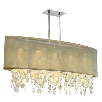 Kenlee 5-Light Kitchen Island Pendant Shade Color: Taupe