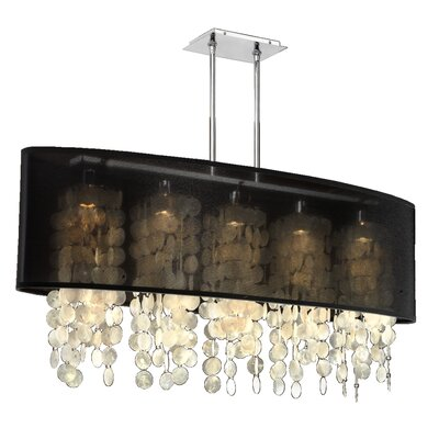 Kenlee 5-Light Kitchen Island Pendant Shade Color: Black
