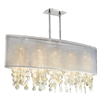 Kenlee 5-Light Kitchen Island Pendant Shade Color: White