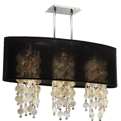 Kenlee Modern 3-Light Kitchen Island Pendant Shade Color: Black