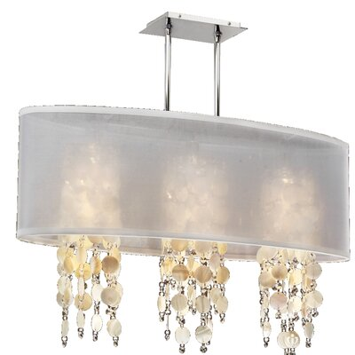 Kenlee Modern 3-Light Kitchen Island Pendant Shade Color: White