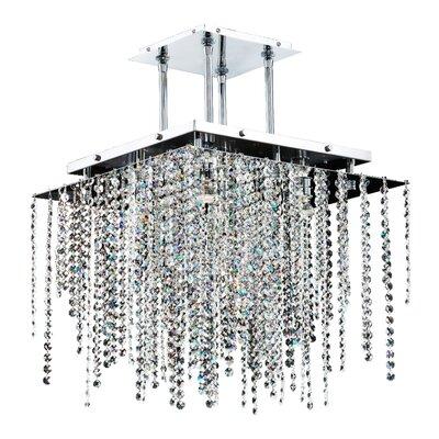 Cohen-Arazi 5-Light Crystal Pendant Size: 17 H x 18 W x 18 D