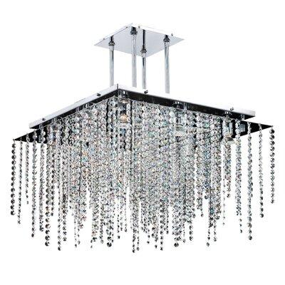 Cohen-Arazi 9-Light Crystal Pendant Size: 17 H x 24 W x 24 D