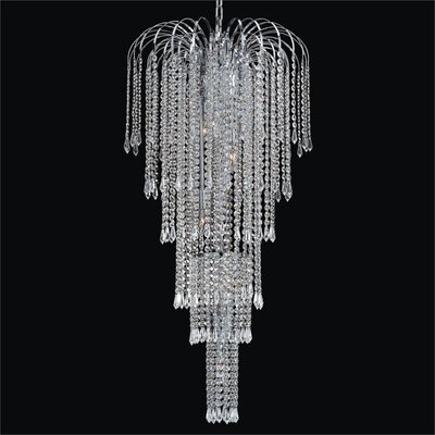 Cascade 9-Light Crystal Chandelier Crystal: Signature Clear Crystal