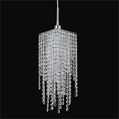 Cohen-Arazi 1-Light Crystal Rod Mini Pendant Crystal: Danube Clear Crystal
