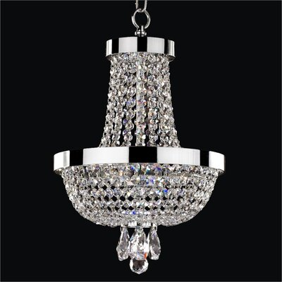 Modern Times 3-Light Empire Chandelier Crystal: Danube Clear Crystal