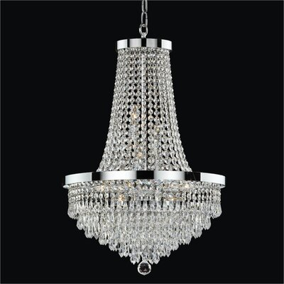 Spellbound 8-Light Empire Chandelier Crystal: Danube Clear Crystal, Size: 28.5 H x 19 W