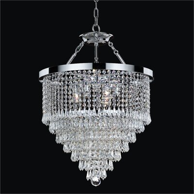 Spellbound 3-Light Crystal Chandelier Crystal: Danube Clear Crystal, Size: 24 H x 19 W